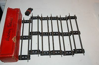 Hornby O Gauge A Half Dozen ( 6 ) Straight Rails With Connecters Boxed