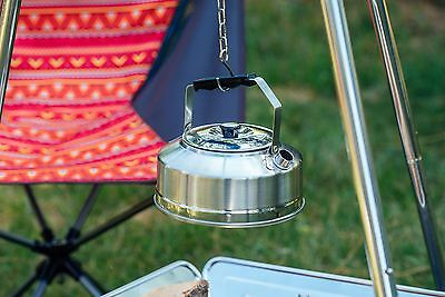 Kazmi Stainless Steel Tea Coffee Kettle Pot 27.05 ounce Camping Outdoor Picnic