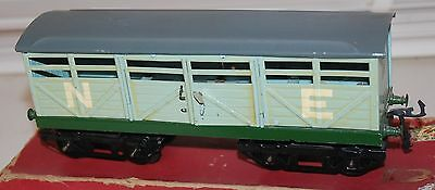 HORNBY SERIES O GAUGE No 2 CATTLE WAGON LNER GREY LIVERY BOXED