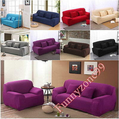 Elastic Easy Stretch Slipcover 1 2 3 4 Seater Sofa Couch Lounge Settee Protector