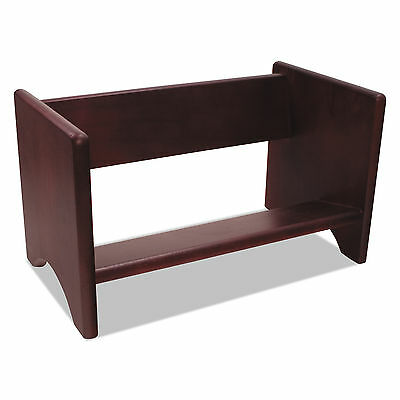 Carver Binder Rack, Wood, 17 1/8 x 9 3/4 x 9 5/8, Mahogany Finish