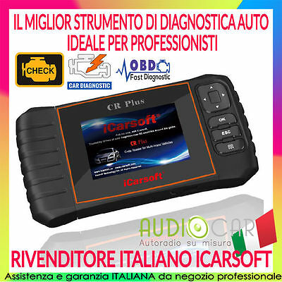 ICARSOFT CR PLUS Diagnostica Auto Professionale OBD II 2 check motore olio freni