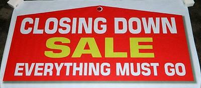 """""""CLOSING DOWN SALE EVERYTHING MUST GO"""" 4 ft. X 2 ft. - Ready-made Banner !"""