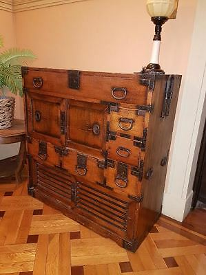 Japanese Antique Office Chest