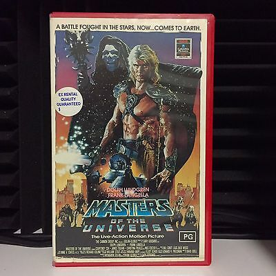 MASTERS OF THE UNIVERSE - VHS 1987 SciFi Action film HE-MAN  Dolph Lundgren