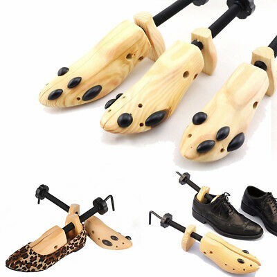 Hot One Pair Wooden Shoe Stretcher Adjustable Size 9-13 For Men Women