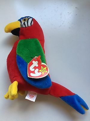 Jabber The Parrot Ty Beanie Baby Toy