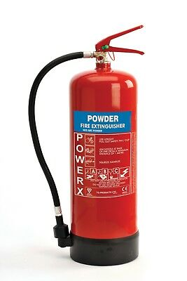 New Premium 4kg Powder Fire Extinguisher - For Class A/B/C & Electrical Fires