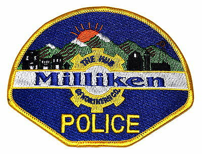 MILLIKEN COLORADO CO Police Sheriff Patch HILLS OF NORTHERN SUNRISE ~