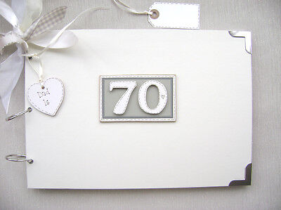 Personalised. 70Th Birthday A4 Size..photo Album/scrapbook/memory/guest Book.