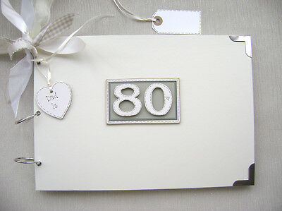 Personalised 80 90 Birthday A4 Size..photo Album/scrapbook/memory/guest Book.