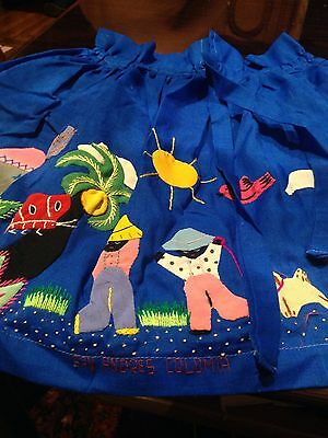 Vintage Hand Made Child's Blue Cotton Skirt