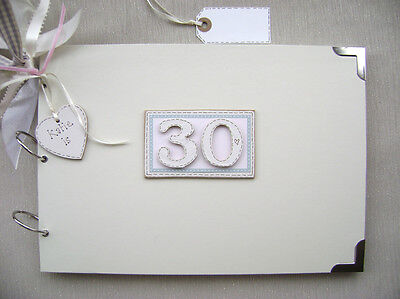 Personalised 30Th Birthday Pink A4 Size.photo Album/scrapbook/memory/guest Book.