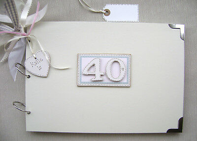 Personalised 40Th Birthday Pink A4 Size.photo Album/scrapbook/memory/guest Book.
