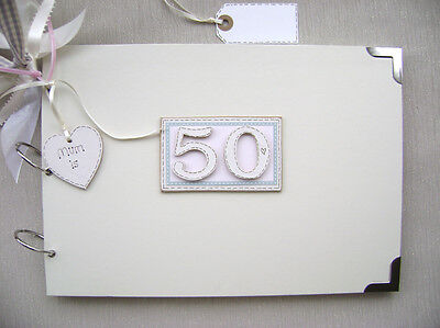 Personalised 50Th Birthday Pink A4 Size.photo Album/scrapbook/memory/guest Book.