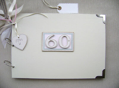 Personalised 60Th Birthday Pink A4 Size.photo Album/scrapbook/memory/guest Book.