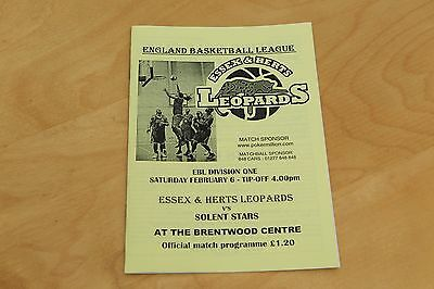 Essex & Herts Leopards v Solent Stars - Basketball - 6th February 2005