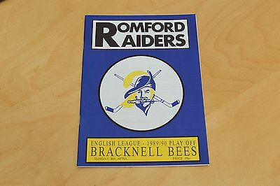 Romford Raiders v Bracknell Bees - Ice Hockey - 8th April 1990