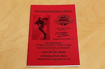 Essex & Herts Leopards v Coventry Crusaders - Basketball - 8th January 2005