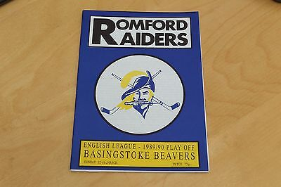 Romford Raiders v Basingstoke Beavers - Ice Hockey - 25th March 1990