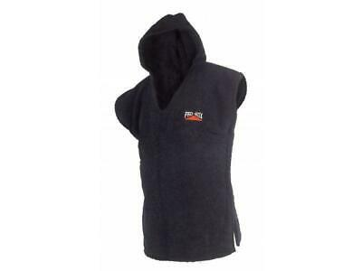 Pro Box Hooded Toweling Poncho  - Kids & Adult - Black