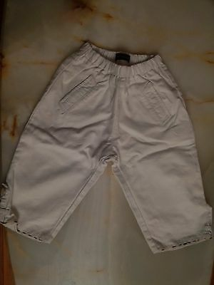 Baby boy or girl white Burberry pants, jeans. size 12 months