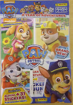 Paw Patrol ~ A Year Of Adventures ~ Panini 2017 Sticker Album Starter Pack