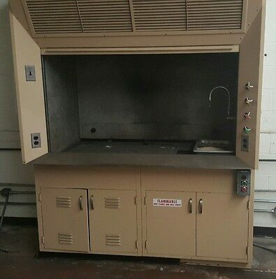 Labritory fume hood with base cabinet