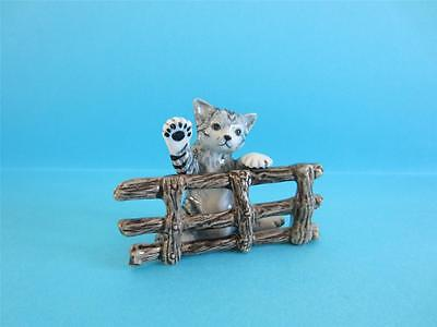 New My Newly Commissioned Cat Poupouce&fence Figurine *second One*