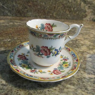Coalport China MING ROSE Demitasse Cup & Saucer Set(s)  EX