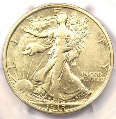 1918-D Walking Liberty Half Dollar 50C - PCGS XF45 (EF45) - Rare Certified Coin!