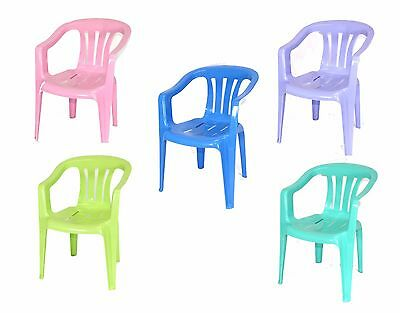 Kids Children Plastic Chair Stackable  Home Picnic Party Child Up To 22.5kg
