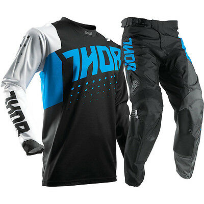 New 36 XL Thor Pulse Aktiv Blue Jersey Pants Kit Motocross Enduro Sale!