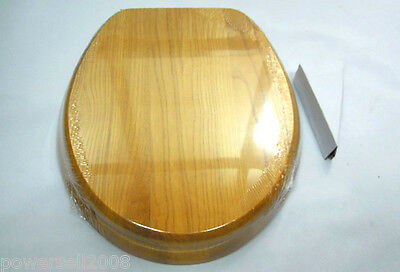 Fashion Natural Oak High-grade Bathroom Accessories Toilet Seat And Cover %H