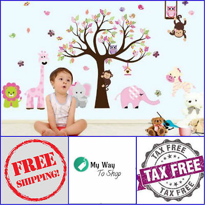 Zoo-Wall-Decal-Easy-to-Apply-Top-Quality-Wall-Stickers-Fast-Shipping-Gift-Wrap