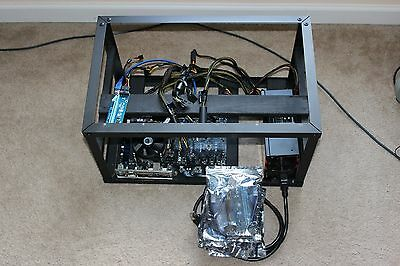 Ethereum, Zcash Mining Rig, Miner, all parts, 6x cards (just add graphics cards)