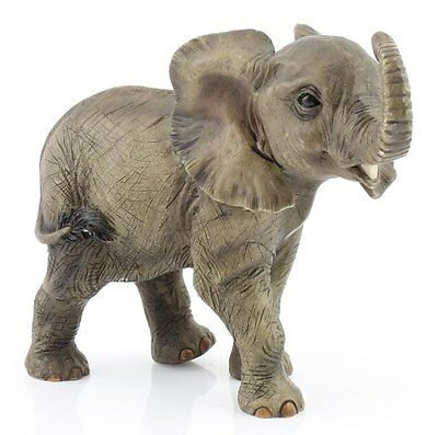 The Leonardo Collection African Elephant Claf Ornament Figurine