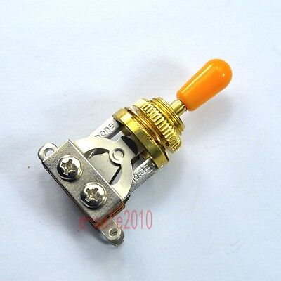 Gold Genuine Short 3 way Toggle Switch For Gibson Les Paul LP SG Epiphone Orange