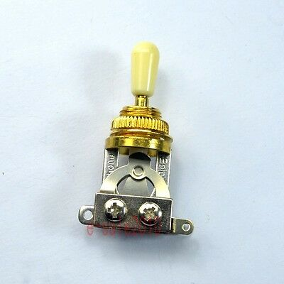 Gold Genuine Short 3 way Toggle Switch For Gibson Les Paul LP SG Epiphone ,Cream
