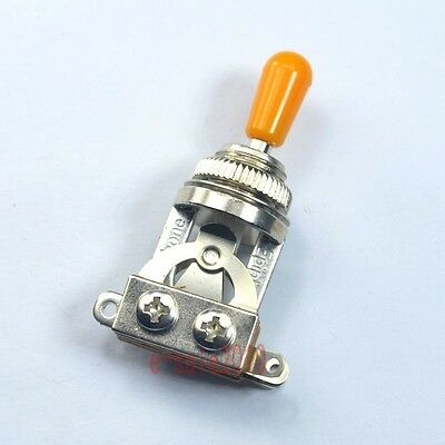 Genuine Short 3 way Toggle Switch For Gibson Les Paul LP SG Epiphone Orange Tip