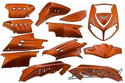 Verkleidungsset orange metallic 13 Teile Peugeot Speedfight 2 Bodypart Kit Set