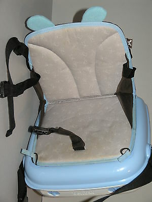 Benbat YummiGo Booster Feeding Travel Storage Seat Blue & White