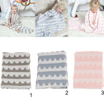 1 Piece Knitted Single Cotton Striped Throw Blanket Bed Sofa Couch Cover Blanket