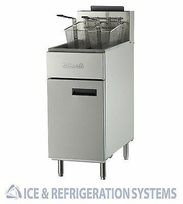 Migali Commercial 40lb Stainless Steel Propane Deep Fryer C-F40-LP