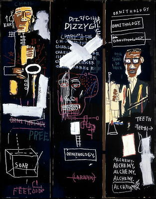 Jean Michel Basquiat Horn Players Giclee Canvas Print Paintings Poster Reproduct