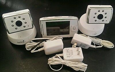 Summer Infant 28980 Dual View Digital Color Video Baby LCD Monitor, 2 Cams