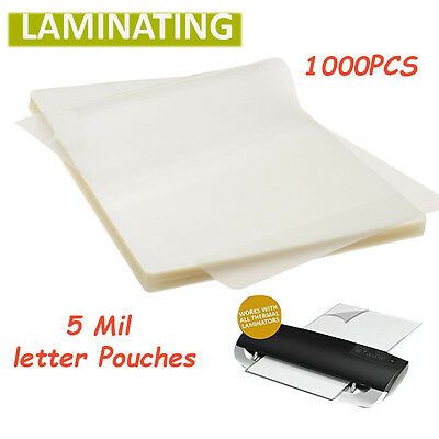 5 Mil Letter Size Thermal Laminating Pouches 9 x 11.5 Inches Pack of 1000