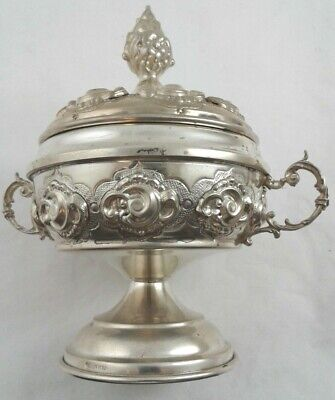 Honey Dish Pot Jar - Hazorfim Judaica - Sterling Silver 925 - weight: 194 grams