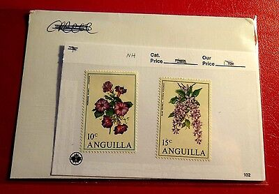 Anguilla Wild flowers 2 Mint Stamps NH ST78