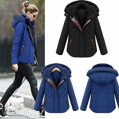 Women Winter Warm Hooded Casual Slim Down Jacket Overcoat Parka Coat Outwear
